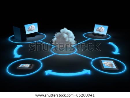 Cloud Concept - stock photo