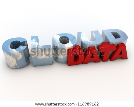 Cloud Data over white Background - stock photo