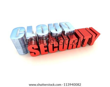 Cloud Data Security - stock photo