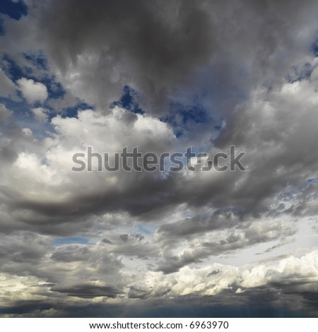 Cloud formations in sky. - stock photo
