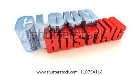 Cloud Hosting - stock photo
