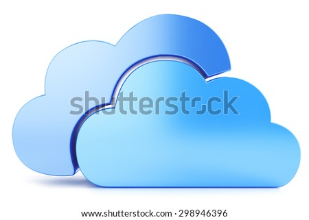 Cloud icon to download data isolated on white background
