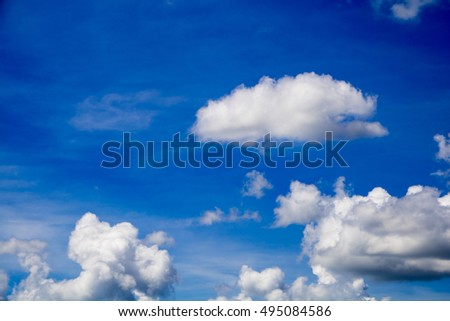 Cloud in a beautiful sky for background,abstract,texture,blurred background.