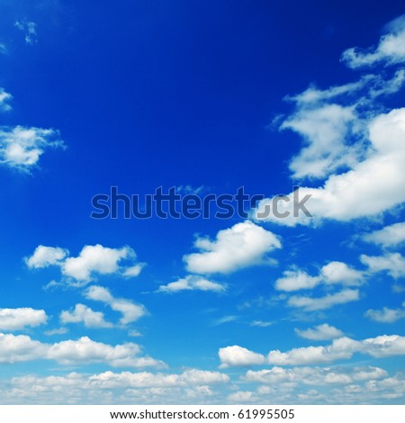 cloud in  blue sky - stock photo