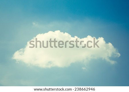Cloud in sky. Retro filter. - stock photo