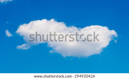 cloud in the blue sky background - stock photo