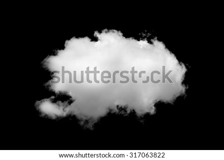 Cloud isolated on black background  - stock photo