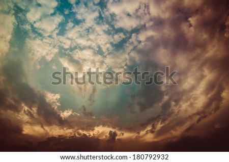 Cloud light and blue sky in the nature concept