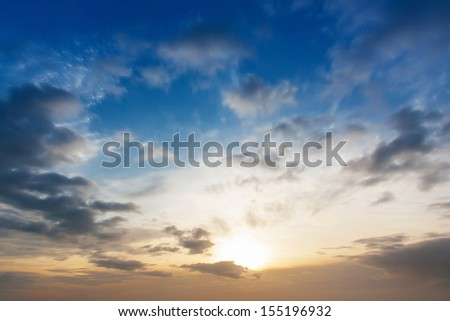 Cloud motion on twilight time - stock photo
