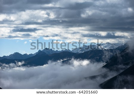 Cloud mountain and sky