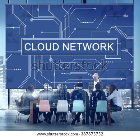 Cloud Network Connection Networking Technology Concept - stock photo