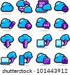 Cloud Network icon set - stock photo