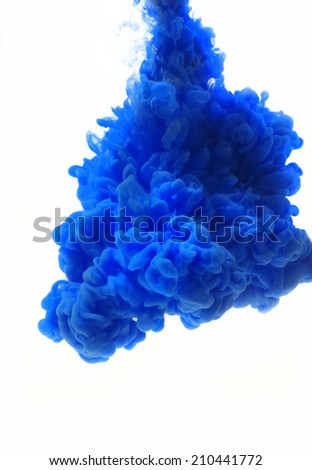 Cloud of ink in water - stock photo