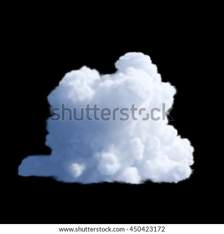 cloud on a black background, isolated