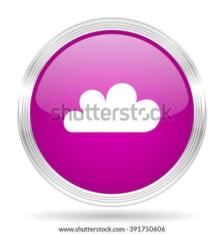 cloud pink modern web design glossy circle icon