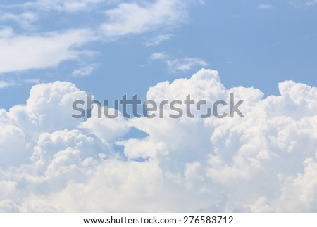 cloud sky nature - stock photo