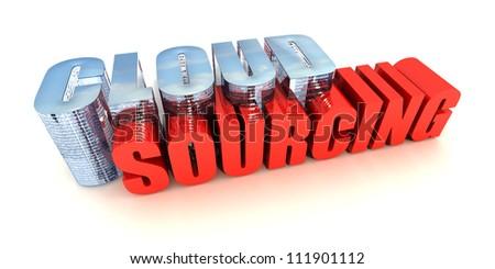 Cloud Sourcing - stock photo