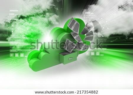 Cloud storage concept - stock photo