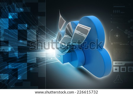 Cloud storage concept - stock photo