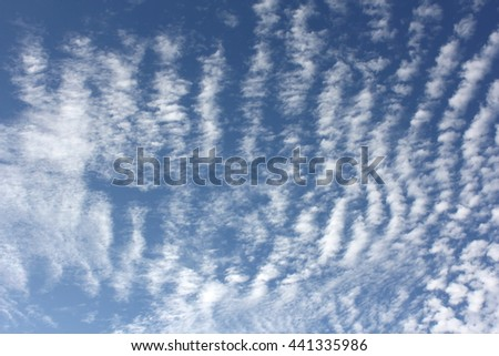 Cloud Textures with Blue Sky 15 - stock photo