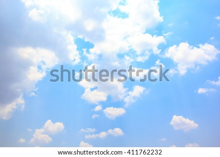 Cloud with blue sky natural background.
