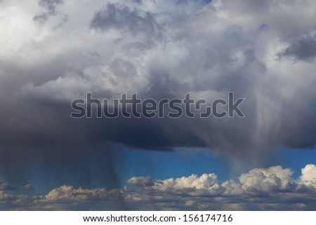Cloud with rain - stock photo