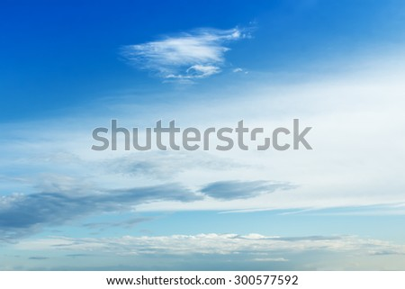 cloudlets in the blue sky