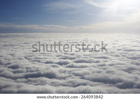 clouds. - stock photo