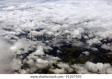 clouds, aerial view