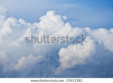 clouds against the sky. background - stock photo