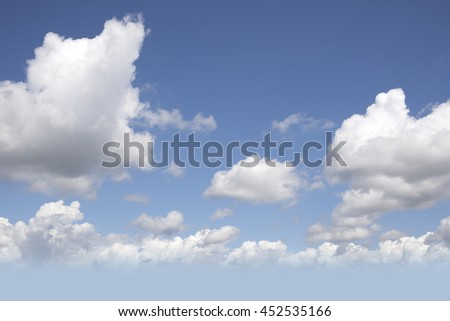 Clouds and blue sky as the background, texture