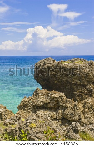 clouds and coral - stock photo