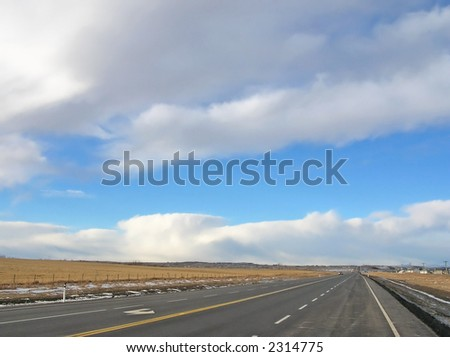 clouds and highway