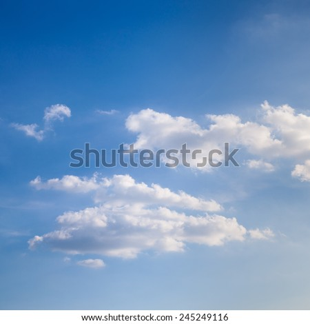 Clouds and sky in the evening Clouds in the evening when the sun starts to run low. - stock photo