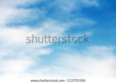 clouds and sky view from above - stock photo
