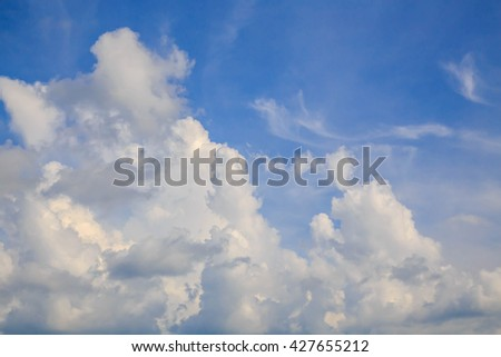 Clouds are divided into two types, ie   horizontally and floating higher  vertically, will be called Stephanie Titus  and cumulus