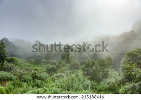 Clouds at Nagarkot mountains - stock photo