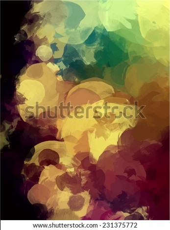 Clouds brush stroke paint. Abstract illustration. - stock photo