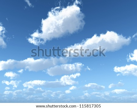 Clouds Computer generated 3D illustration