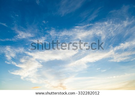 Clouds covered the sky During the evening there will be made sunlight sky is warmer. - stock photo