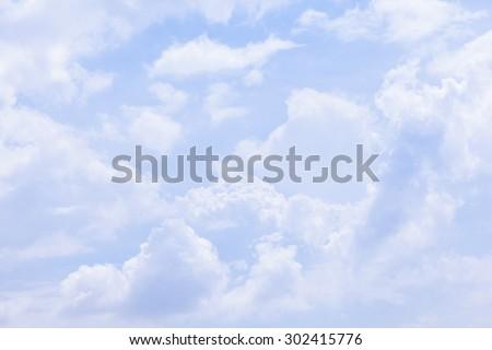Clouds covered the sky. The clouds covered the sky full. - stock photo