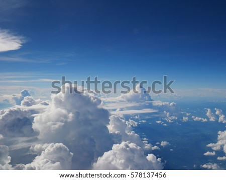 Clouds in a clear sky, Thailand