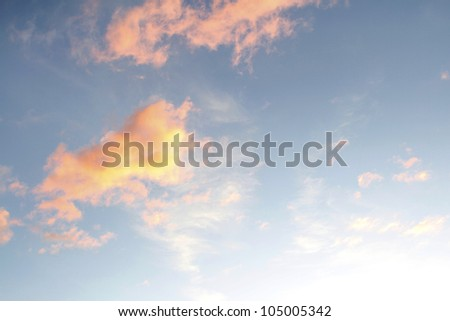 Clouds in a sunset sky - stock photo