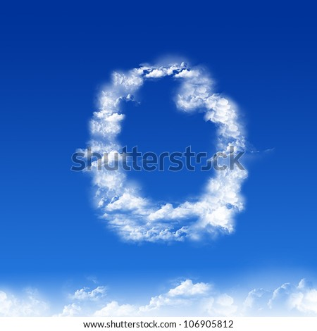 clouds in shape of figure one