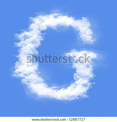 Clouds in shape of the letter G