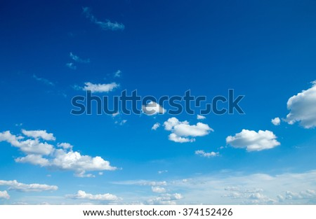 clouds in the blue sky - stock photo