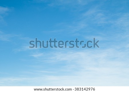 clouds in the blue sky, day - stock photo