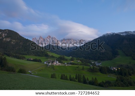 Clouds in Val di Funes, Dolomites, Italy