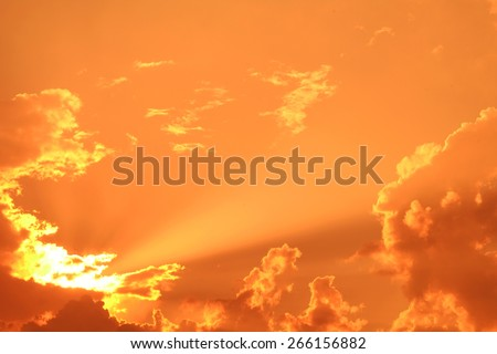 Clouds obscured the sun in the sky  for background - stock photo