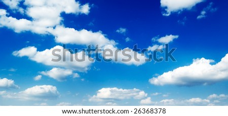 clouds on a background of the blue sky